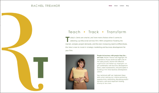 Branding Strategy and Website for Rachel Treanor
