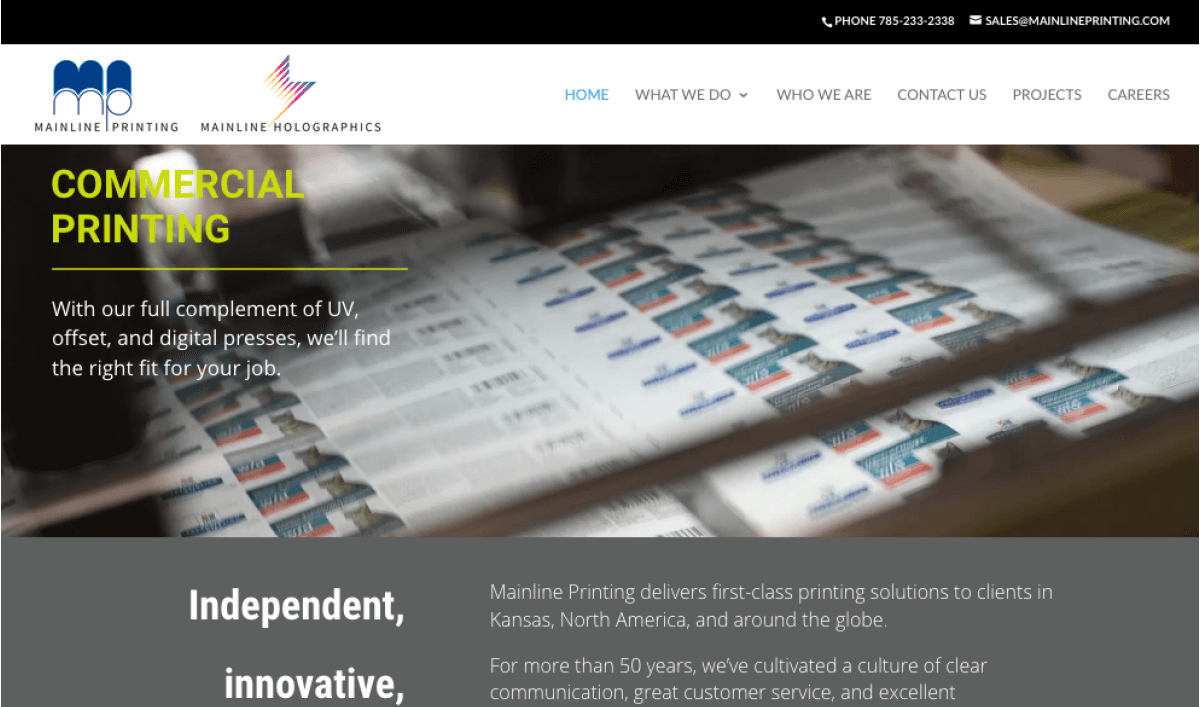Fresh and Modern Website Developed for Mainline Printing