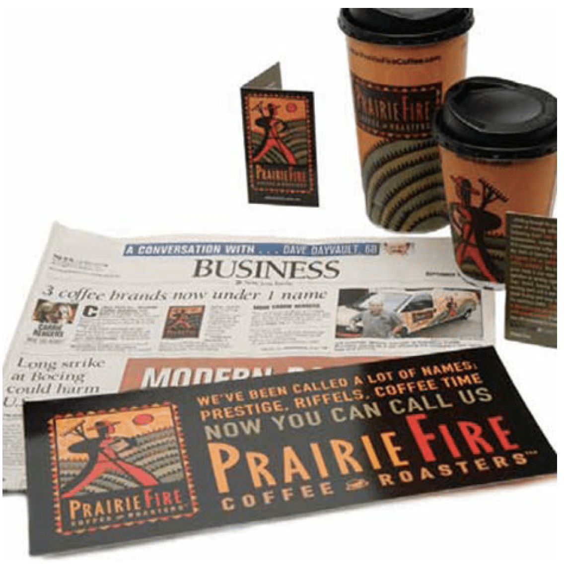 Prairie Fire Coffee Roasters Direct Mail and Packaging